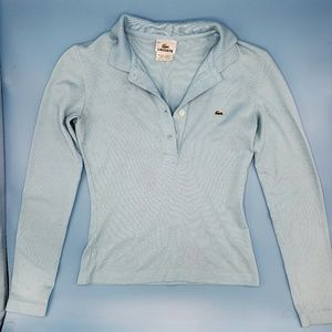 💕 Lacoste periwinkle blue long sleeve collared t